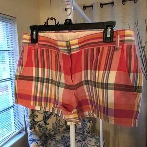 Plaid Jcrew Shorts